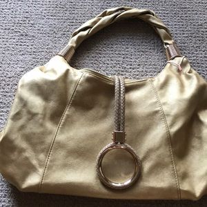 Brand new Imoshion vegan leather gold bag!